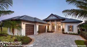one floor houses 3 bed with 2 lanai 66342we architectural designs