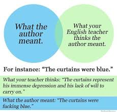 Me Me Me English - what the author meant vs what your english teacher thinks the