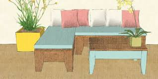 Homemade Patio Table by Remodelaholic Build An Easy Patio Set With Benches And A Coffee