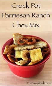 crock pot chex mix recipe parmesan ranch party snack