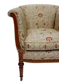 Antique Upholstered Armchairs Carved Satinwood Upholstered Armchair