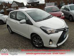 toyota makes used glacier white pearl toyota yaris for sale buckinghamshire