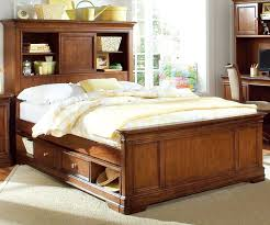 best full size storage bed with bookcase headboard and storage bed