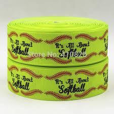 softball ribbon q n oem 1 5inch 38mm 150325002 softball printed grosgrain ribbon