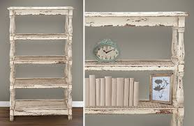 wood bookcase distressed wood bookcase