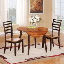 Drop Leaf Table And Chairs Holland House 1267 Dining Casual Three Piece Round Drop Leaf Table