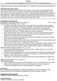 Liaison Resume Sample Clinical Research Coordinator Resume 19936