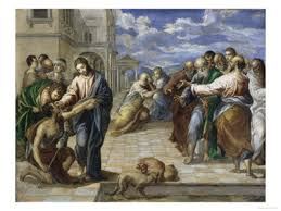 Christ Healing The Blind Art History Browser El Greco Gallery 1541 1614