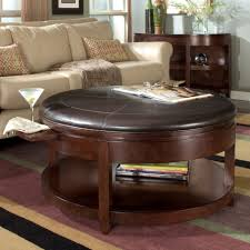 square ottoman with storage and tray coffee table elegance round leather ottoman coffee table with tray