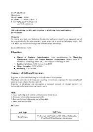 Network Administrator Resume For Fresher Mba Marketing Resume Format For Freshers Resume For Your Job