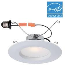 Recessed Lighting Fixtures Home Depot Commercial Electric 6 In White Integrated Led Recessed Trim