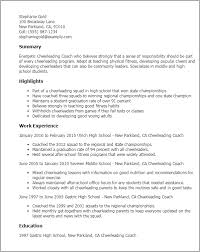 Career Coach Resume Sample by Professional Cheerleading Coach Templates To Showcase Your Talent