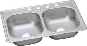 undermount kitchen sink with faucet holes elkay dse233194 33 inch drop in bowl stainless steel sink