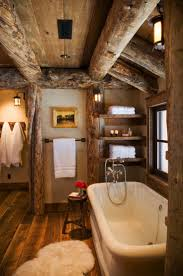 Log Cabin Bathroom Decor by Lake House Bathroom Decor