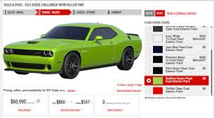 dodge challenger calendar 2015 dodge challenger price configurator has all the hellcat you