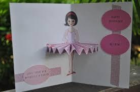 pop up ballerina cards cards cards and scrapbooking