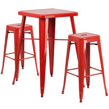 red pub table and chairs metal red pub tables bistro sets you ll love wayfair