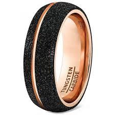 black gold mens wedding band mens black gold wedding bands