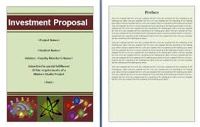 8 investment proposal template excel ledger paper
