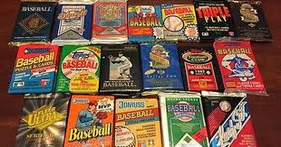 awesome 80 unopened baseball card wax packs 1200 vintage cards