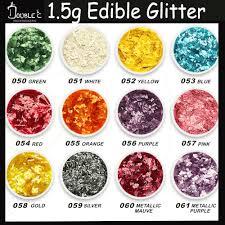 ediable glitter 1 5g color sparking edible glitter sprinkles pretty shinny glitter