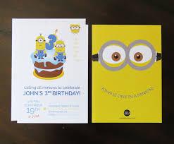 robedee design minions birthday invitations