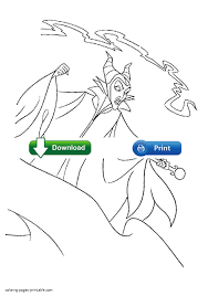 maleficent coloring pages disney villains
