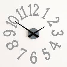 large painted numbers clock wall sticker by bloobry