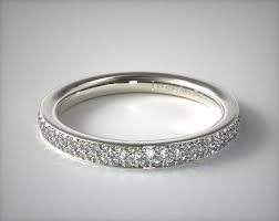 white gold eternity ring two row pave diamond eternity ring 14k white gold 13048w14