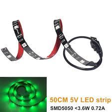 fry s led light strips free shipping 1 64ft 0 5m usb led strip light kit 5050 green