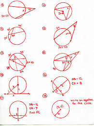 Segment Lengths In Circles Worksheet Answers Honors Geometry 2015 2016 Mr Calise S Math Website