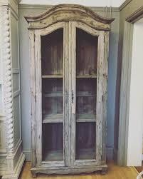 armoire linen cupboard wood chicken wire armoire linen cupboard