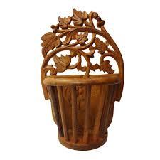 Wooden Home Decor Home Decor Wood Carved Flower Vase Artifacts Homeshop18