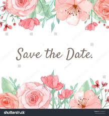 flower wedding invitation card save date stock illustration