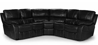 Corner Sofas With Recliners Belgravia Electric Recliner 2c2 Corner Black Leathaire Leather