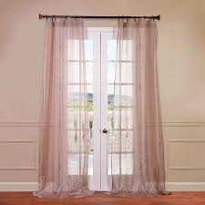 Patterned Sheer Curtains Exclusive Fabrics Furnishing Zara Patterned Sheer Curtain Panel