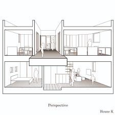 floor plan with perspective house gallery of house k yds architects 28