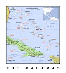 North America Political Map by Detailed Political Map Of Bahamas With Relief Bahamas North