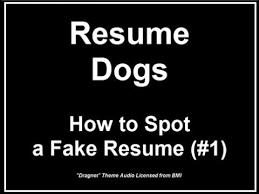 Donald Burns Resume Writer Resume Dogs How To Spot A Fake Resume Youtube