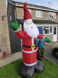 Cheap Inflatable Christmas Decorations Uk by Christmas Decoration 240cm Large Father Christmas Inflatable