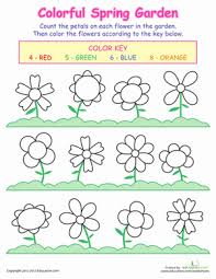 counting flowers worksheet education com