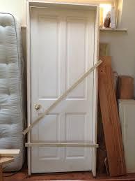 solid wood door internal four panel 1970 high x 755 wide x 34mm
