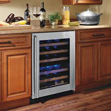 under cabinet beverage refrigerator built in wine cooler bottle dual zone black cabinet stainless summit