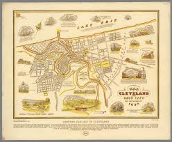 map of cleveland map of cleveland and ohio city both incorporated in 1836 century