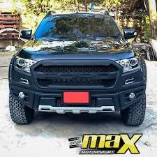 Ford Raptor Ranger - ford ranger 2016 on raptor plastic front bumper add on inc drl led
