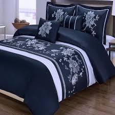 Blue King Size Comforter Sets Amazon Com Navy Blue Floral Duvet Cover King Cal King Oversized