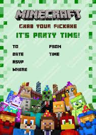 homemade minecraft invitations minecraft party invitations u2013 unitedarmy info