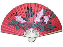 oriental fan wall hanging large 84 folding chinese wall fan oriental paper hanging 6 cranes