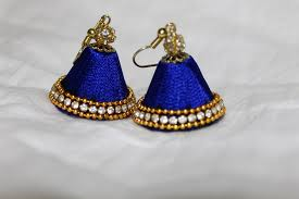 new jhumka earrings blue silk thread jhumka earrings jhumki for ears