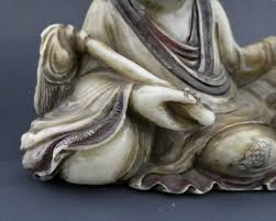 carving soapstone carved soapstone luohan 18th 19th century c 1800 china